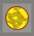 flat shading style icons halloween full moon vector image