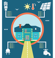Infographic of energy home vector image