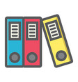 Binders colorful line icon business and folder vector image
