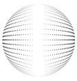 halftone globe vector image