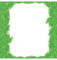 green grass frame2 vector image