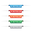 Bestseller paper tag labels vector image vector image