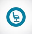 barber chair icon bold blue circle border vector image