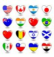 heart flags vector image vector image