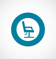 barber chair icon bold blue circle border vector image