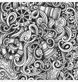 Cartoon hand-drawn doodles Nautical and Marine vector image