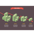 Cash money inflation infographic vector image