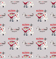 cute christmas seamless pattern background - vector image