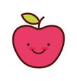 cute fruit apple vector image