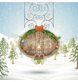 Decorated Christmas board vector image