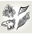 Eagle Wing Hand Drawing vector image