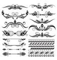 floral page decoration design elements vector image