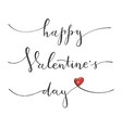 Happy Valentines Day Greeting card with hand vector image
