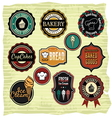 Retro grunge food labels badges vector image