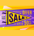 sale banner design black friday poster in bright vector image
