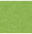 Seamless pattern of the doodle various teapot and vector image