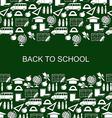 school backg silh green vector image