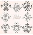 Floral decorative ethnic elements vector image