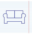 sofa sign navy line icon on vector image