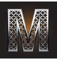 Metal figure vector image vector image
