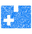 medical box grunge icon vector image