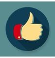 Like symbol icon flat design vector image vector image