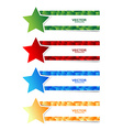 star banner set with 3d cubbes shape vector image vector image