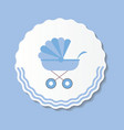 Blue Baby Carriage for vector image