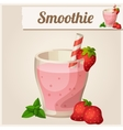 Detailed Icon Strawberry smoothie vector image