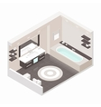 Bathroom isometric detailed set vector image
