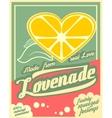 Colorful vintage Lemonade label poster vector image