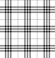 black and white fabric texture tartan pattern vector image
