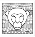 Chinese zodiac sign Monkey vector image