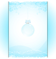 Christmas bauble panel background blue vector image