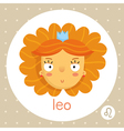Leo zodiac sign girl with voluminous hair and vector image