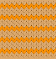 orange knitted scandinavian ornament vector image