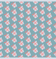seamless pattern with gifts on blue background vector image