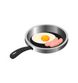 traditional breakfast food fried eggs vector image