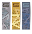 Vertical Banner Set Of Three Modern Graphic vector image