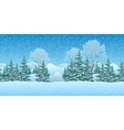 Seamless Christmas Landscape vector image