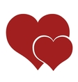 red hearts lovely romance design vector image
