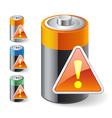 Notification Low Battery Icons vector image vector image