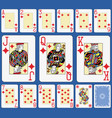 blackjack diamonds suite french stylexa vector image