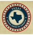 Vintage label Texas vector image vector image