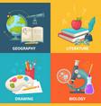 colorful school square concept vector image