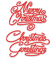 merry christmas calligraphic text vector image vector image