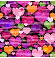 Motley seamless valentine pattern vector image vector image