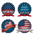 fourth of july decorations vector image vector image