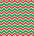 Chevron Christmas pattern vector image