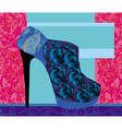 High heels background with place for you text vector image